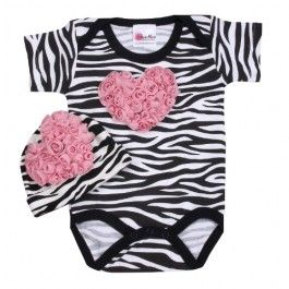 Pink Zebra Love Set