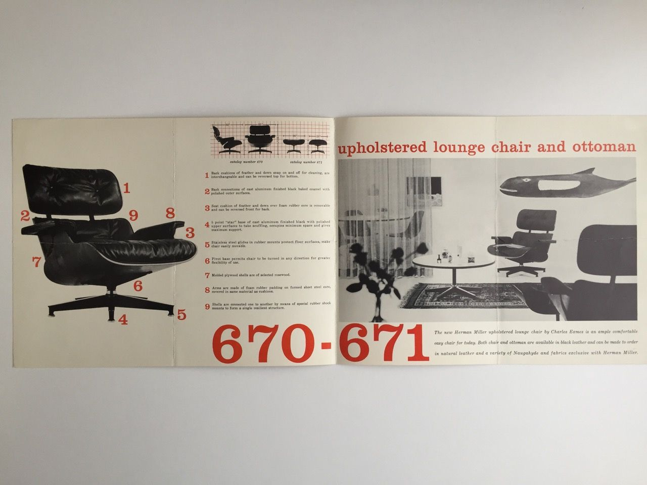 Outstanding Eames Lounge Chair And Ottoman Brochure 1956 Chair Lamtechconsult Wood Chair Design Ideas Lamtechconsultcom