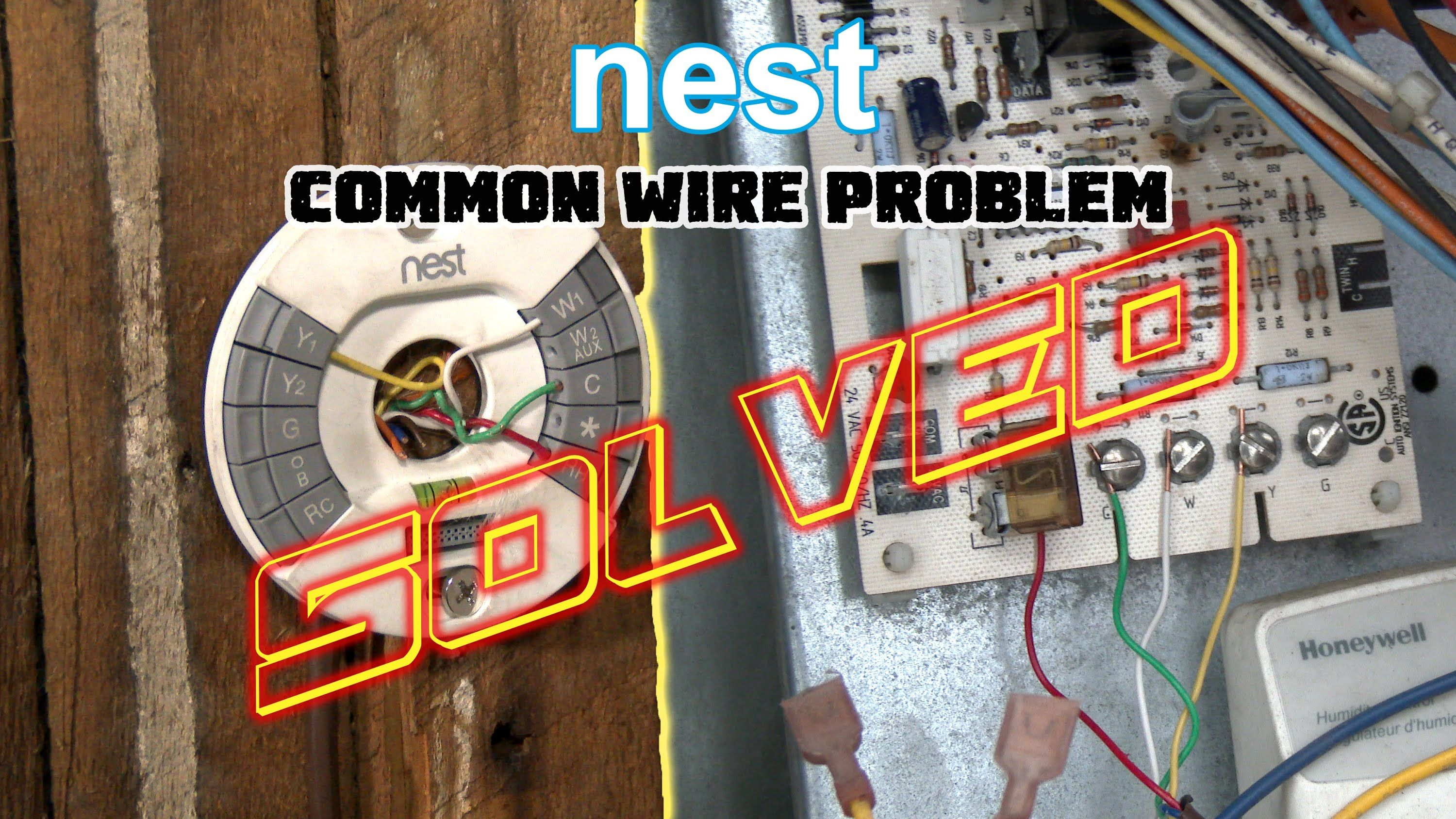 Nest Thermostat No Common Wire PROBLEM SOLVED How To