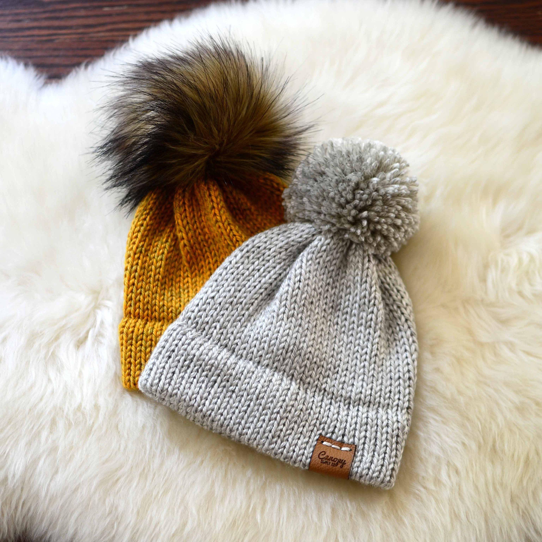 Baby Hat Neutral Baby Beanie Baby Beanie With Pom | Etsy | Baby hats  knitting, Pom pom baby, Baby beanie