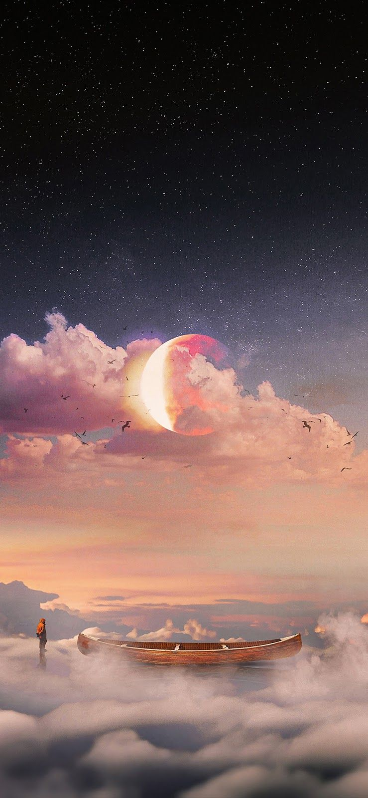 Floating on clouds (iPhone X) Cool iphone wallpapers hd