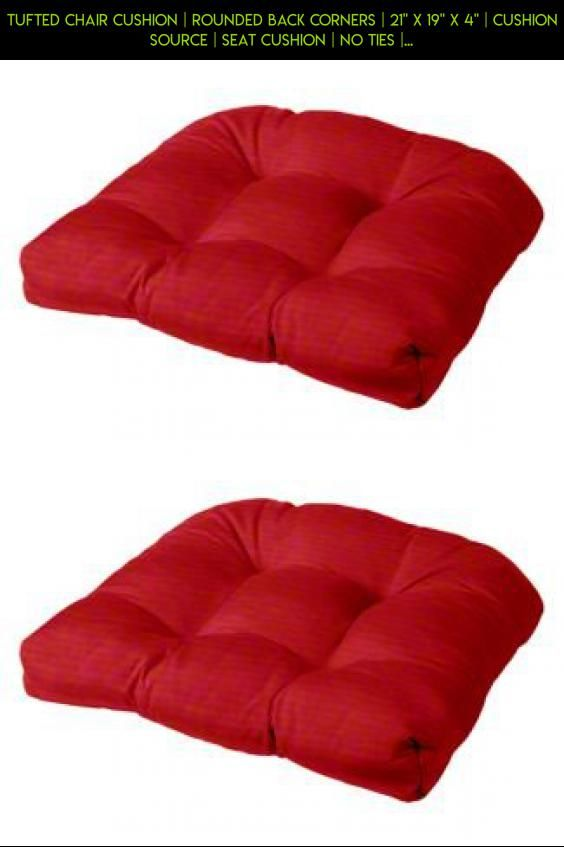 Tufted Chair Cushion Rounded Back Corners 21 X 19 X 4