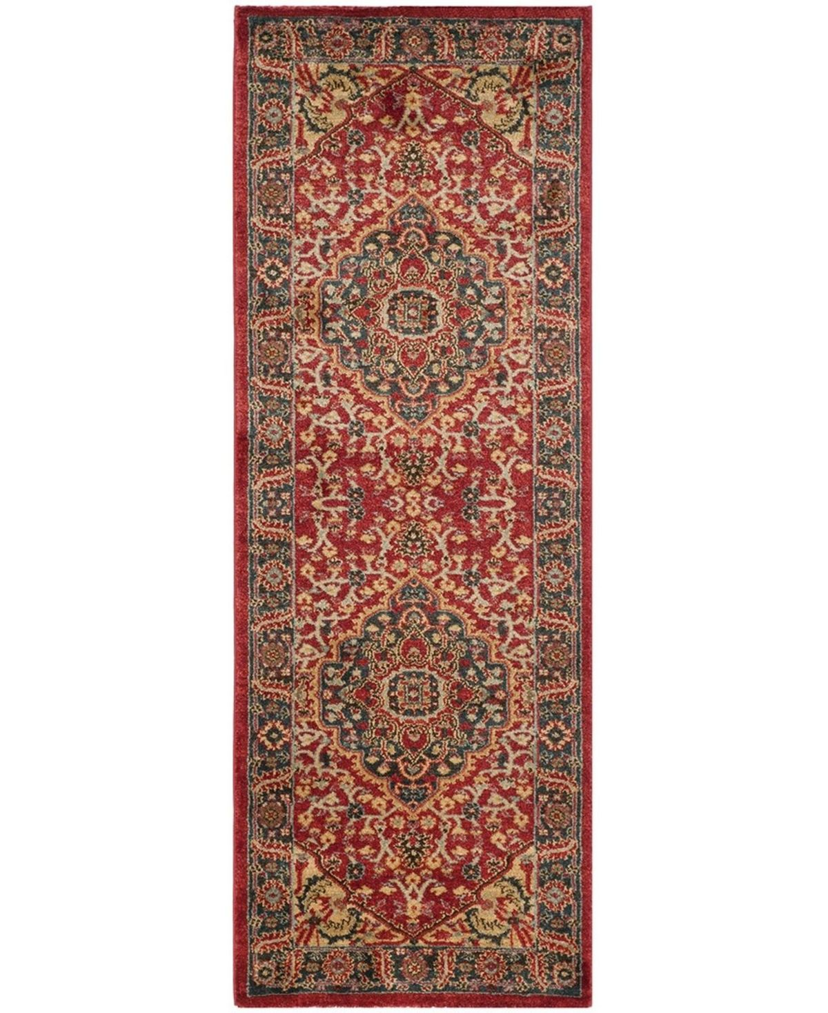 Safavieh Mahal Navy And Red 2 2 X 12 Runner Area Rug Reviews