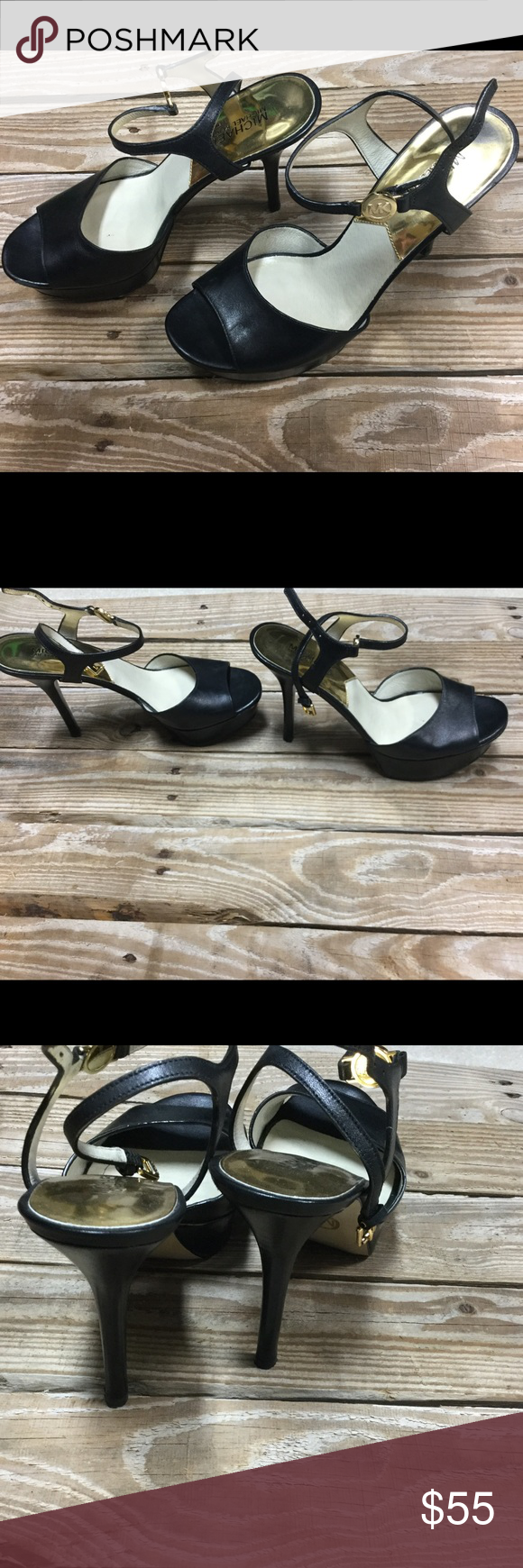 Michael Kors Platform Heels Black Size 9 Michael Kors Platform Heels Black Size 9. Worn a few times. Cute for Business Casual or the Club! Mild blem front right / can't see when on. Purchased new this way! Didn't care, had to have them for a Christmas party ⛄️they are so HOT!🔥 Michael Kors Shoes Platforms