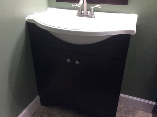 W Vanity With Ab Engineered Composite Top In Espresso Dmsd30p2com E At The Home Depot Mobile