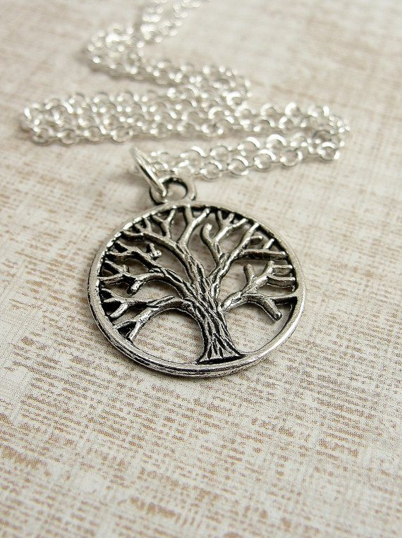 Tree of Life Necklace Silver Plated Tree of Life Charm on a Silver