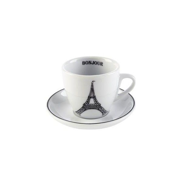 Eiffel Tower Espresso Cup and Saucer - Mugs u0026 Cups - Dinnerware - Tabletop u0026 Serving - Sur La Table ($5.95) found on Polyvore  sc 1 st  Pinterest & Eiffel Tower Espresso Cup and Saucer - Mugs u0026 Cups - Dinnerware ...