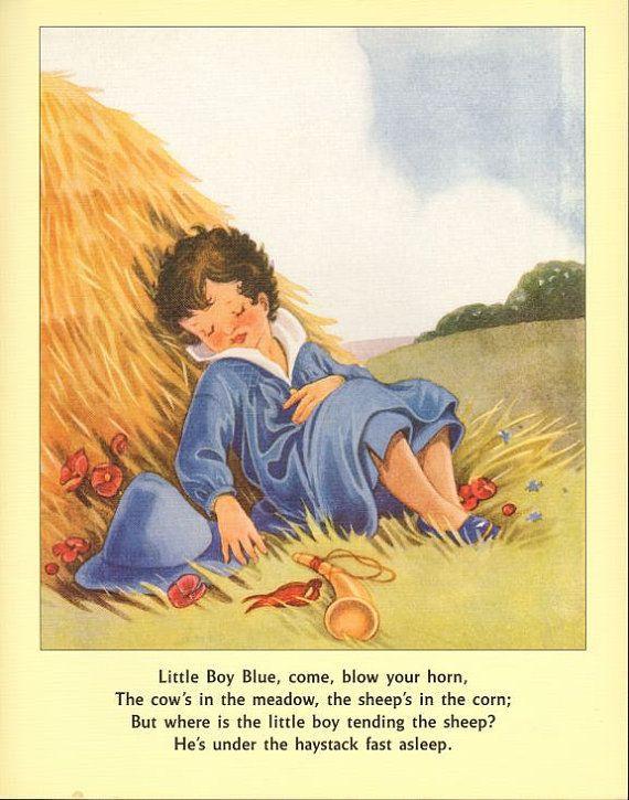 Rhyme And Reason Baby Bunting Vintage Art Prints Nursery Little Boy