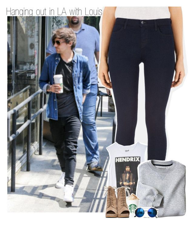 """Hanging out in LA with Louis"" by liamismybabe ❤ liked on Polyvore featuring J Brand, Jeffrey Campbell, Chicnova Fashion, OneDirection and louistomlinson"