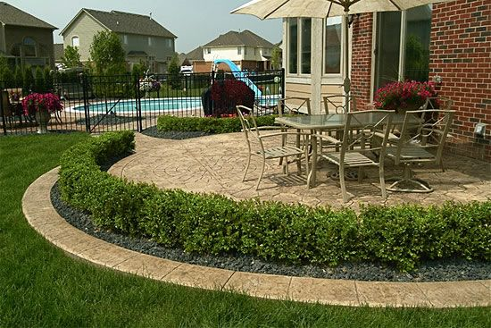Smaller Version W/ Shrubs For Front??Biondo Cement   Patios Gallery / 03