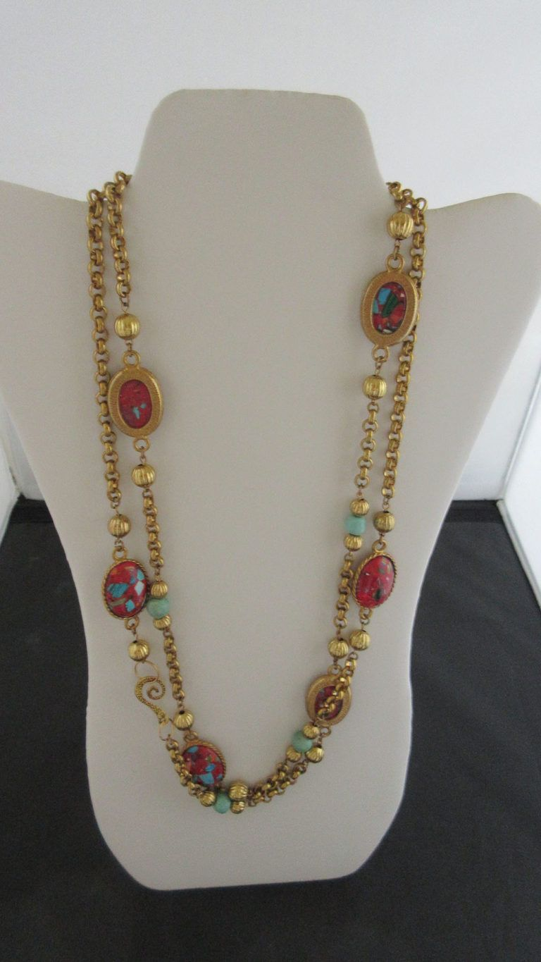 Carol Dauplaise Gilt Necklace Best Online Jewelry Store Vintage Costume Jewelry Fashion Jewelry Stores