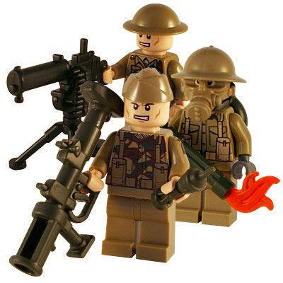 Doughboy World War I Army Minfigure Soldier made with real LEGO® minifig SKU12