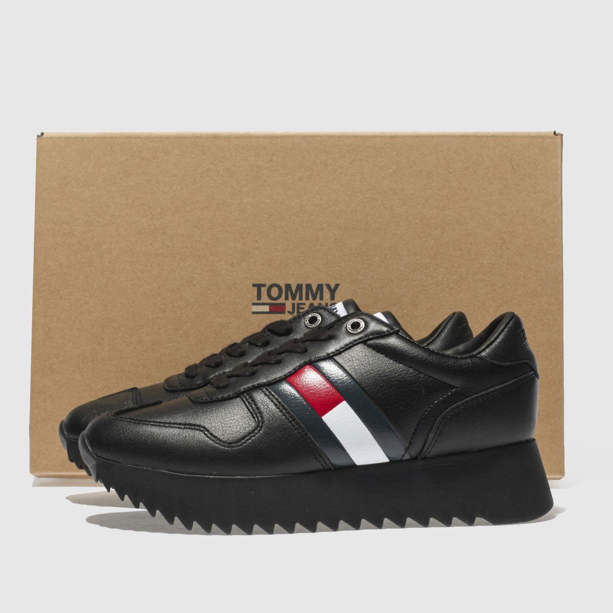 39e1f93eb5ec4f tommy hilfiger black tj high cleated sneaker trainers