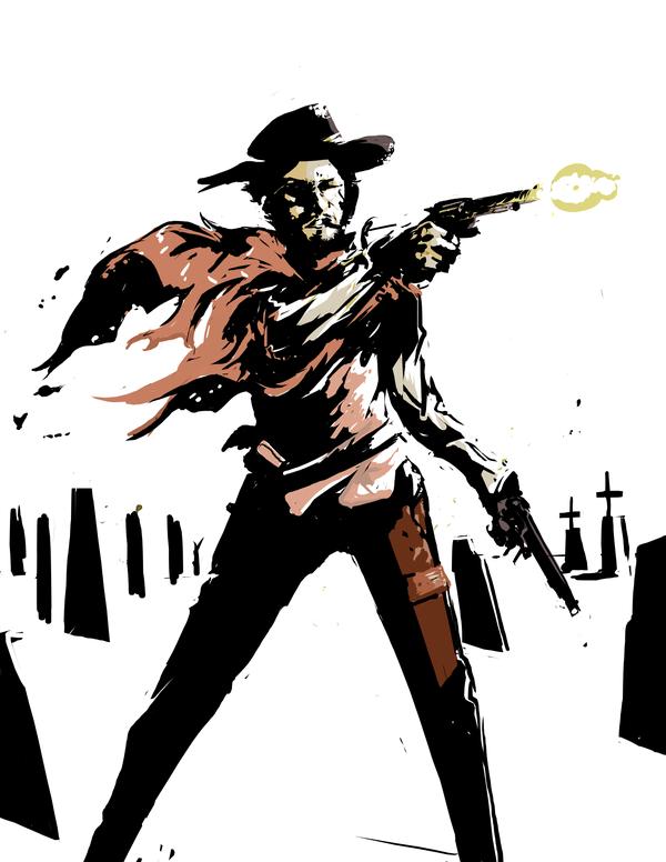 Amazing Old West Illustrations Clint Eastwood Clint Illustration