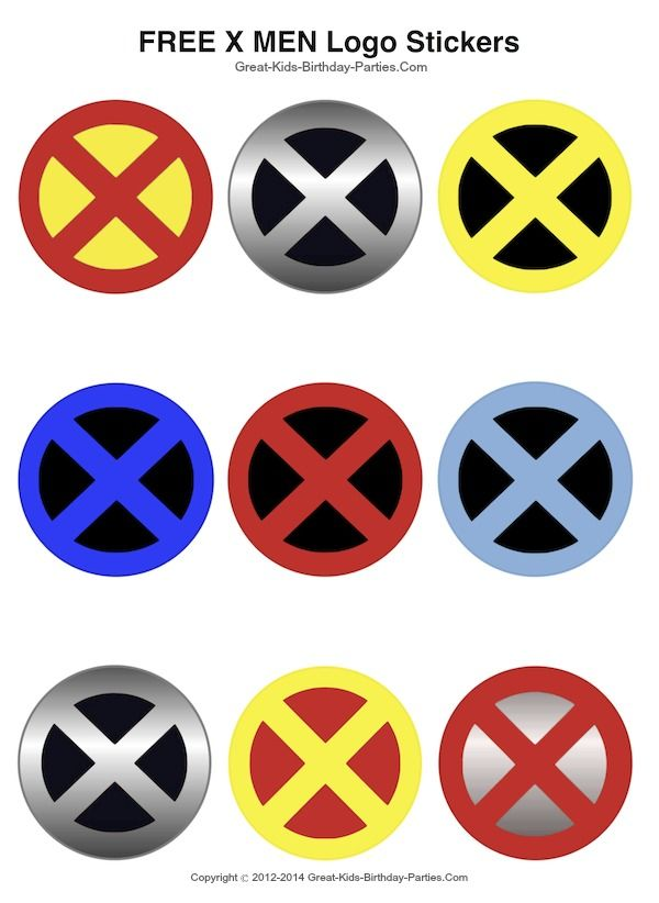 X Men Logo Men Logo Mens Birthday Party X Men