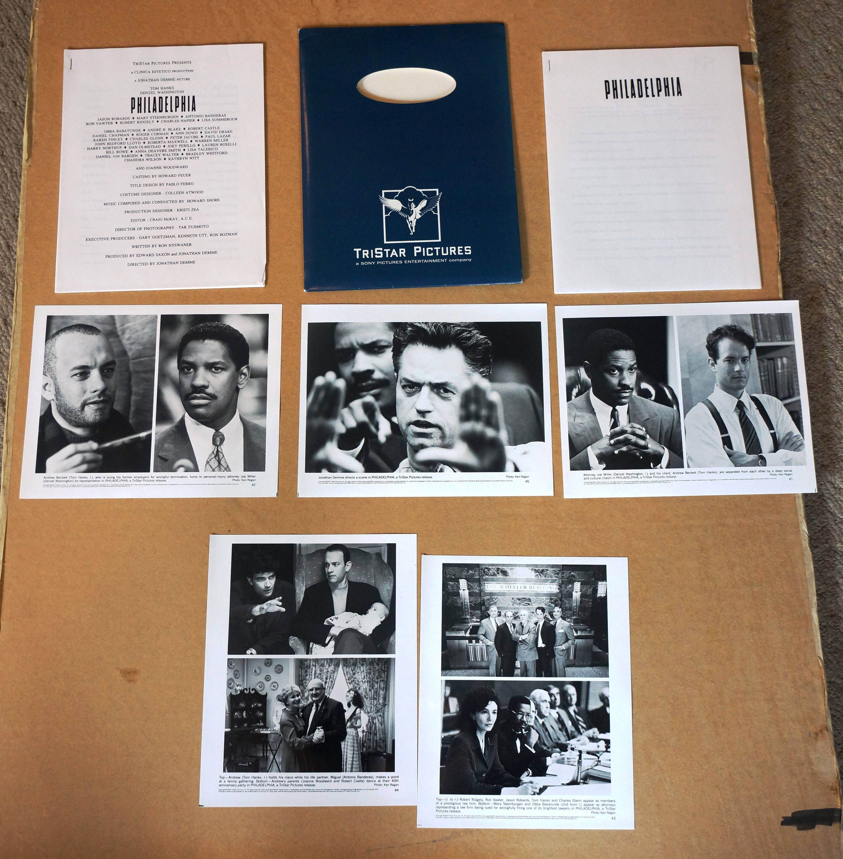 Movie Press Kit Philadelphia Original 1993 Press Kit 5 Great 8 X 10 Photographs By Moviepostersandmore On Etsy
