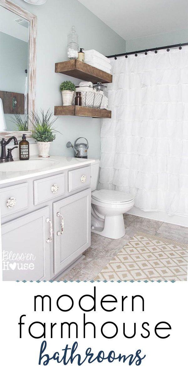 43+ Fixer upper farmhouse bathroom ideas in 2021