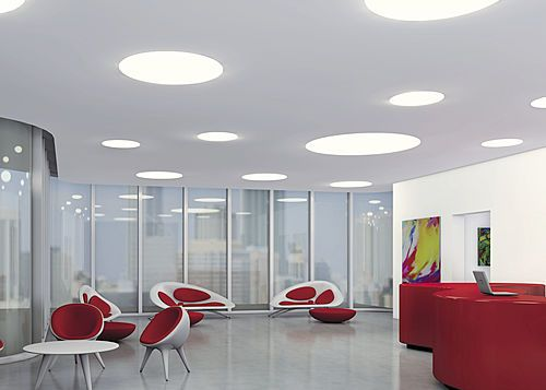 TZ-T LED recessed luminaires designed for frame-free installation in