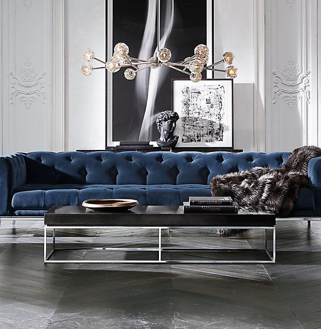 italia sofa rh parlor cb2 modern's chesterfield fabric sofa:a contemporary ...