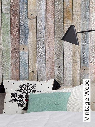 Petty black \ white Tapeten, Vintage und Wände streichen - tapeten schlafzimmer gestalten