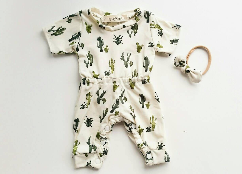 8495f2a2e Cactus Romper- Succulent Romper-Baby Girl Romper-Girl Plant Romper- Coming  Home Outfit- Baby Bodysuit- Baby Boy Coming Home- Baby Boy Romper by ...