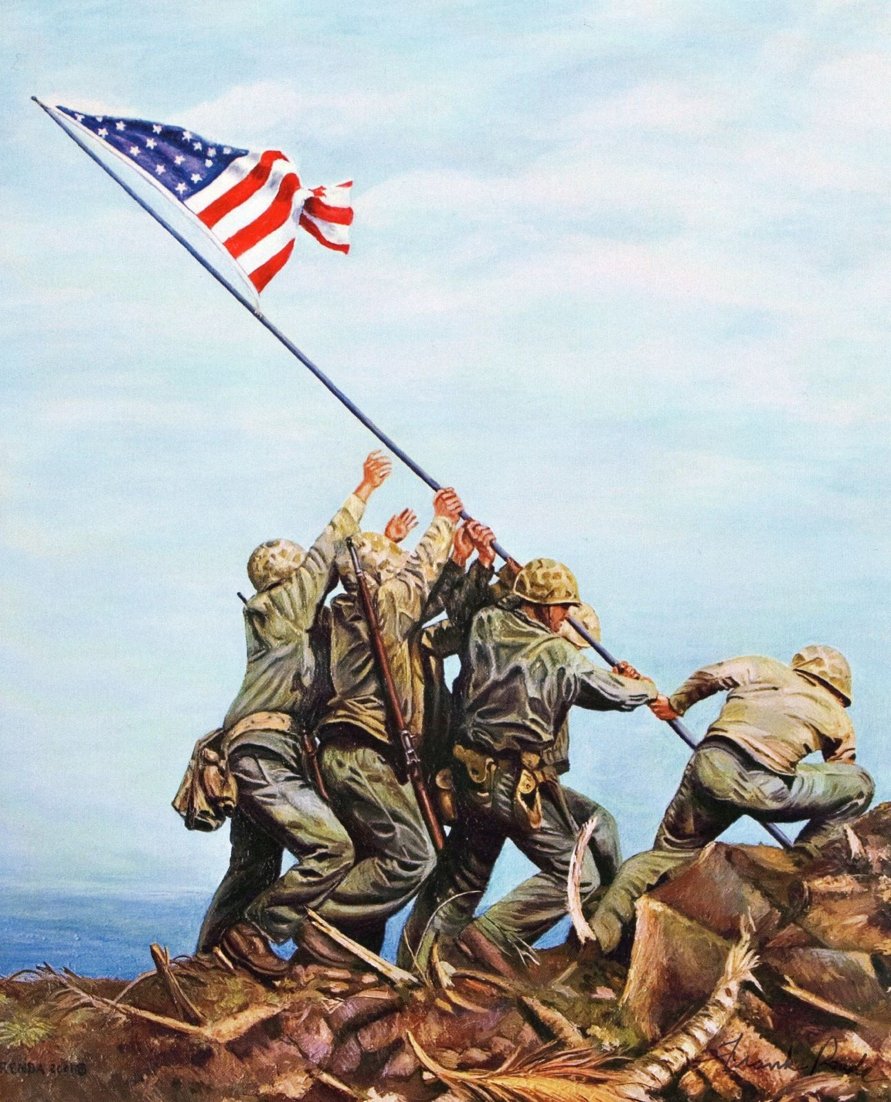 Flag Raising On Iwo Jima Iwo Iwo Jima Battle Of Iwo Jima