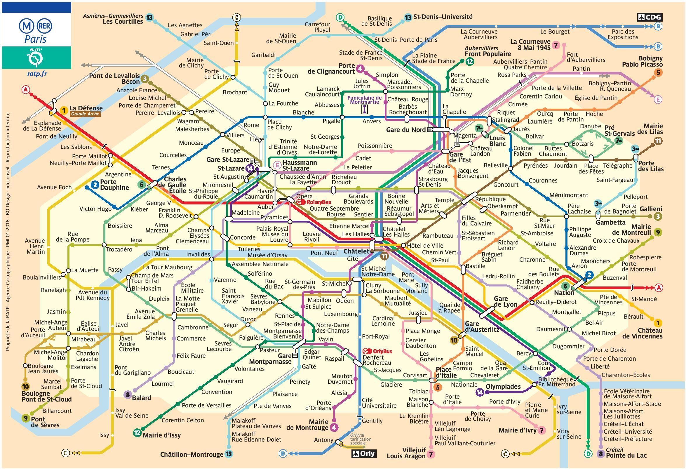 Plan Metro Paris Ratp Pdf Gratuit A Telecharger Plan Metro Paris