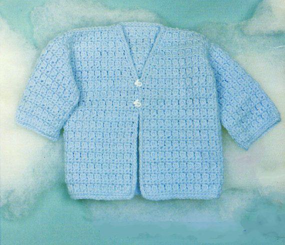 Baby Crochet Pattern V Neck Crochet Baby Sweater Pattern Crochet