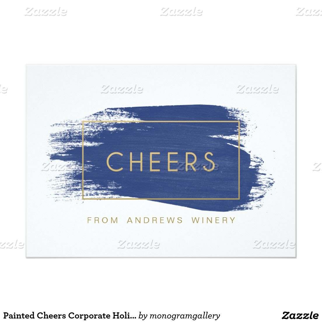 Painted Cheers Corporate Holiday Card | Cheer, Holidays and ...