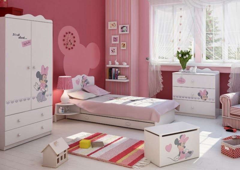Dormitorios para niñas tema Minnie | cuartos de ninas | Pinterest ...