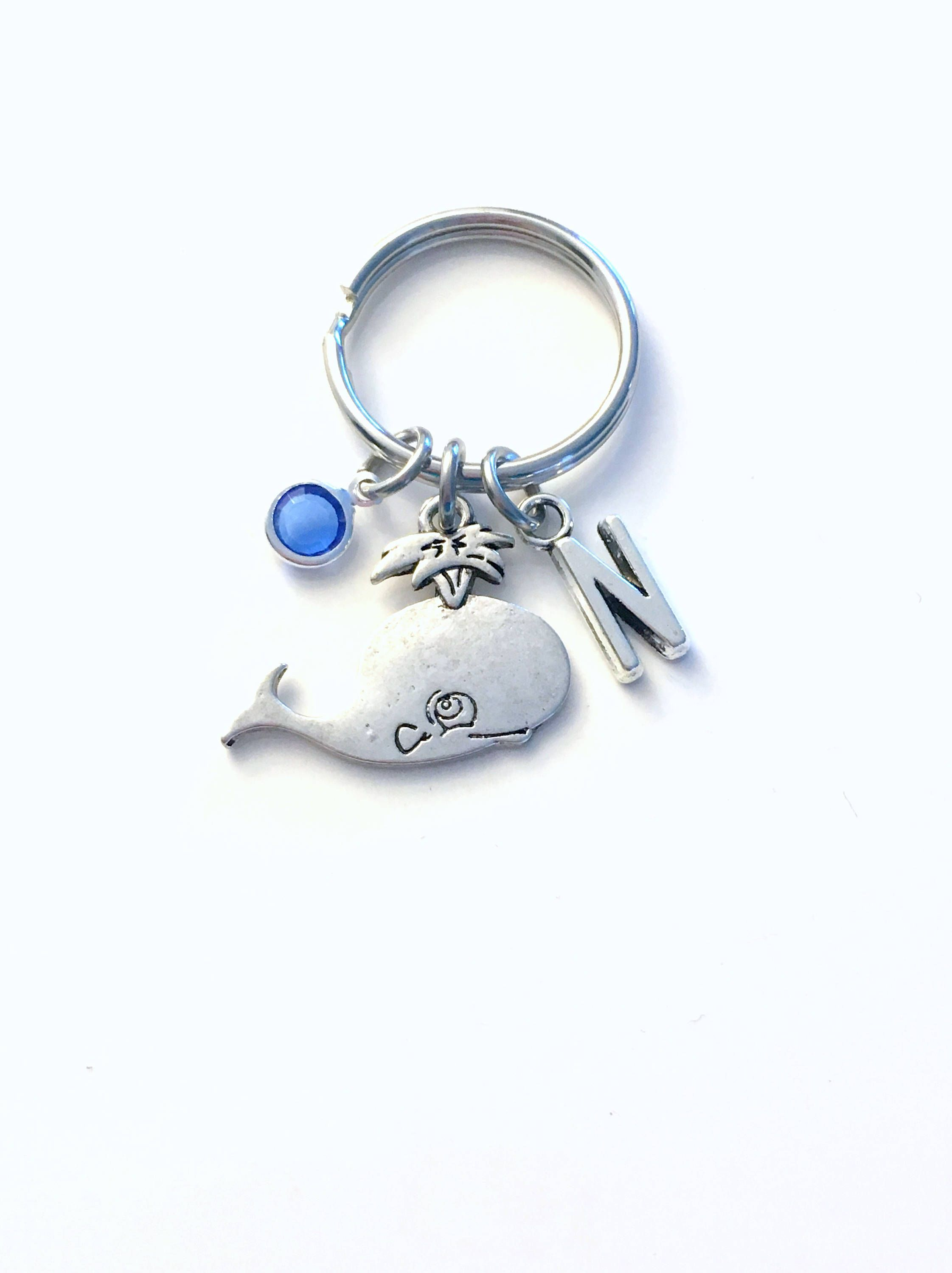 Whale Keychain Gift for Teenage Girl Key Chain Marine Animal