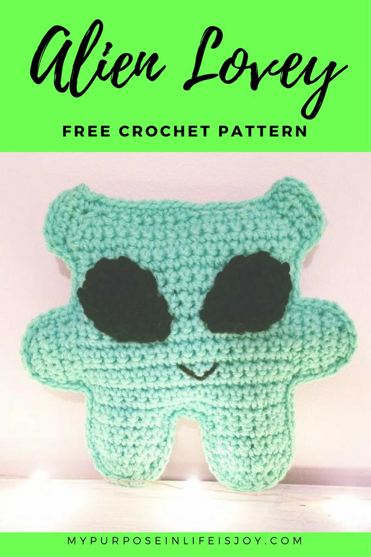 Free Crochet Pattern: Alien Lovey   Pinterest   Varios