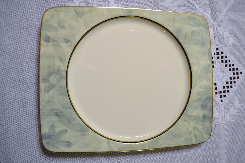 Mikasa Battique Dinner Plate Rectangular White Green Replacement PanchosPorch & Battique Dinner Plate Rectangular White Green Replacement PanchosPorch