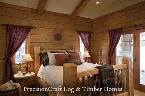 Log Home Bedroom Log Cabin Glamorous Cabin Bedroom Decorating .