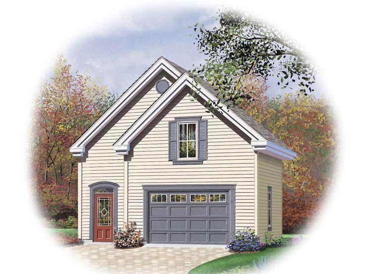 2-Car Garage Loft Plan, 028G-0036   Garage design plans ...