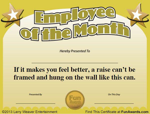 employee of the month awards employee awards pinte