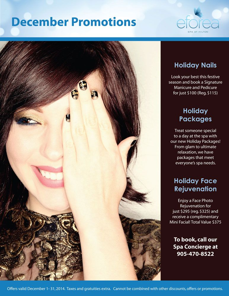 Look Your Best This Holiday Season With December Spa Promotions On Face Photo Mini Facial Advanced Skin Care Festive Manicure