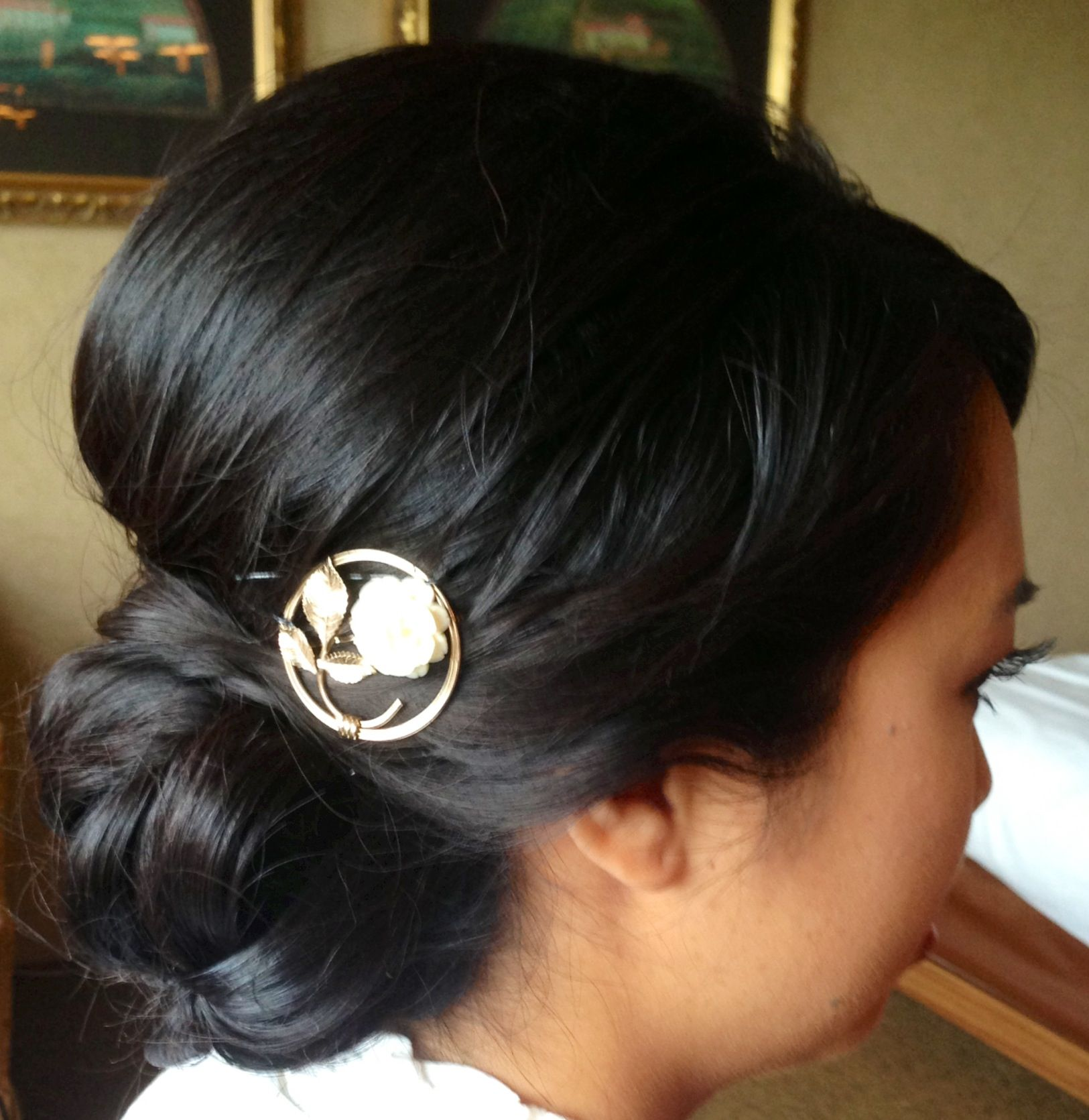 Wedding Updo Wedding Hair Bridal Hair Chignon Asian Bridal Hair
