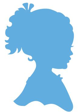 marianne design creatable dies silhouette girl with ponytail lr0349