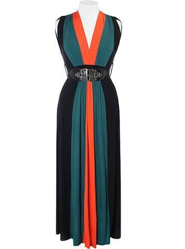 Plus Size Fabulous Diva Aqua Maxi Dress Plus Size Clothing Club