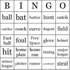 Baseball Bingo Card Sample  Sportbingo    Bingo Maker