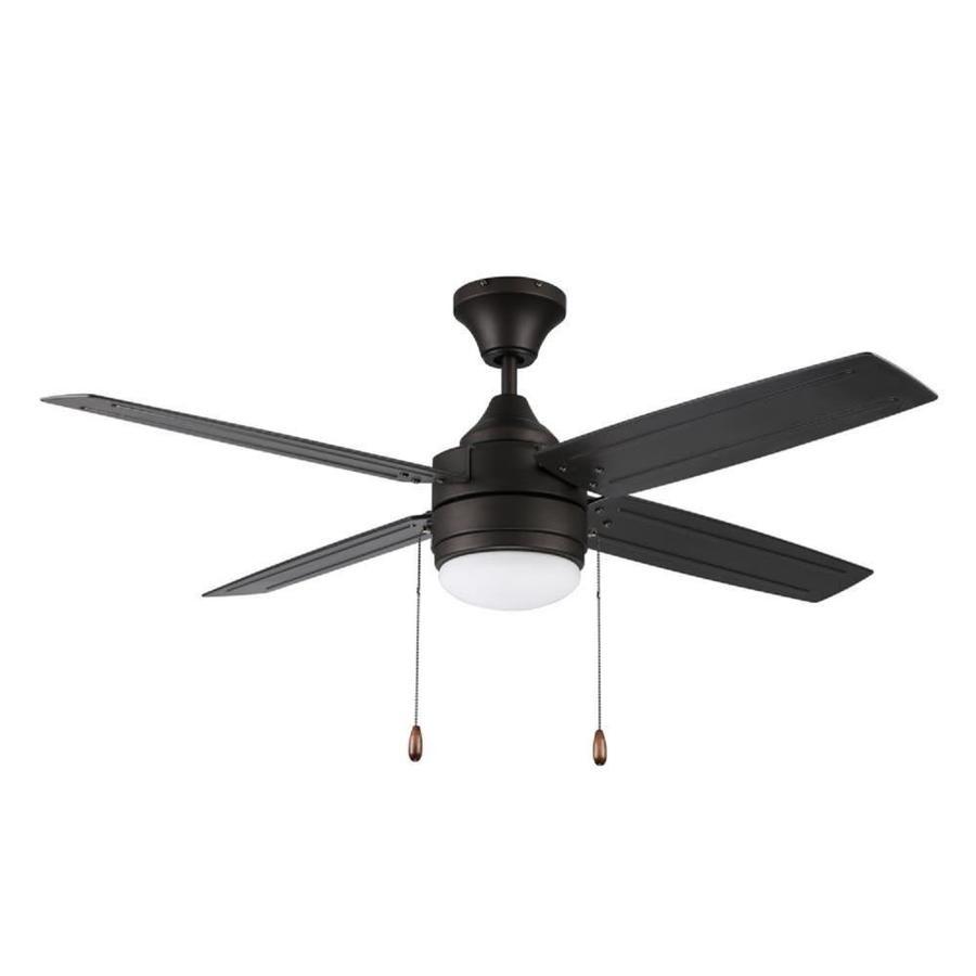 Litex Aikman 52 In Bronze Led Indoor Outdoor Ceiling Fan With