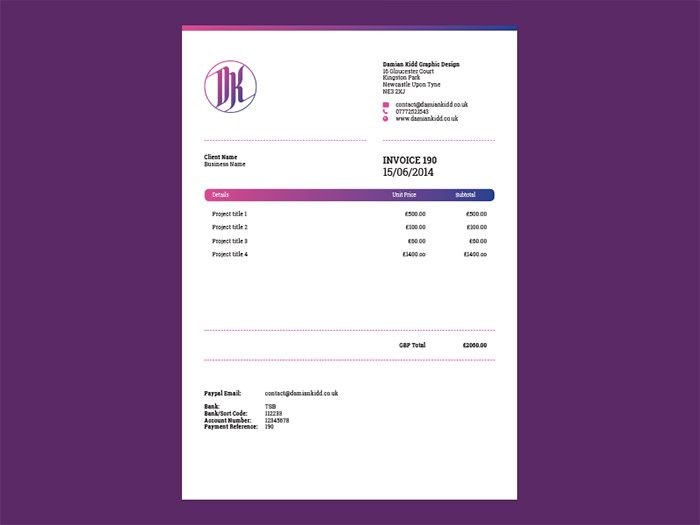 50 Creative Invoice Designs for Your Inspiration Graphic - invoice designs