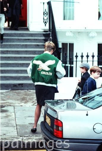 Princess Diana with Princes William and Harry 1991