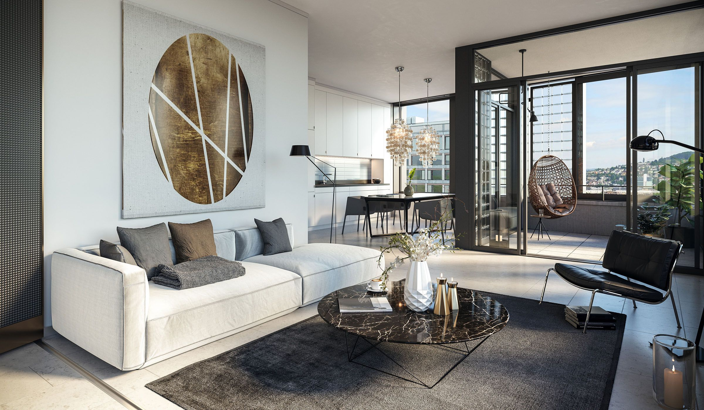 Loft Classic Modern Wohnung Architekt Boltshauser