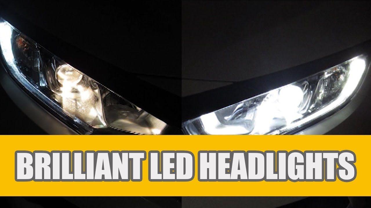 High Beam Led Headlights Bulbs Installation For 2006 2007 2008 2009 2010 2011 2012 2013 2014 2016 2017 2018 Hon Led Headlights Headlight Bulbs Honda Civic 2016