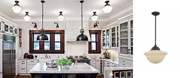 Victorian Kitchen Lighting Chicago kitchen features deep bowl schoolhouse pendants chicago kitchen features deep bowl schoolhouse pendants workwithnaturefo