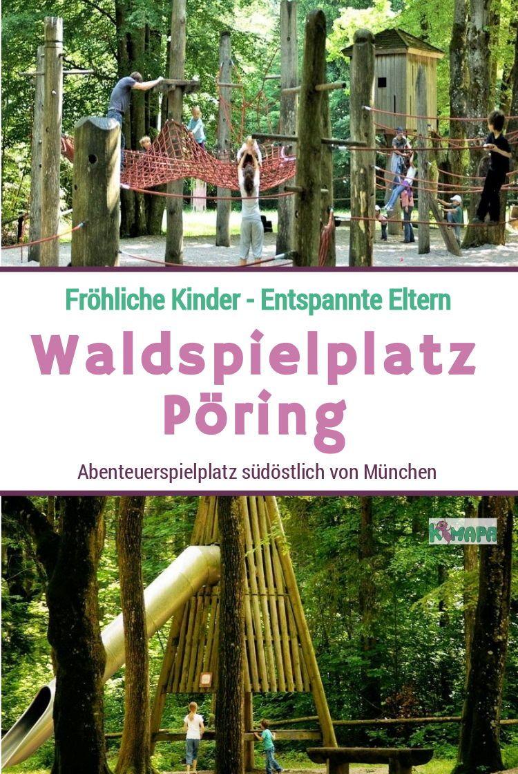 Waldspielplatz Pöring - KiMaPa #ferientisch