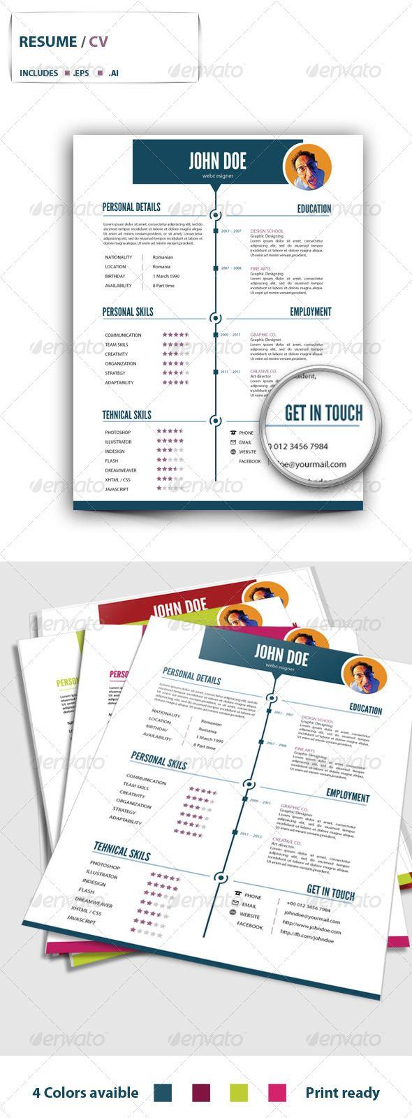 Resume v.1 | Resume cv, Fonts and Creative resume templates