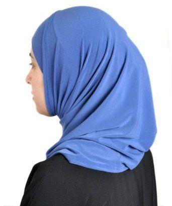 HijabGirl Lycra Blend Sporty Al-Amira Hijab-One Size-Blue HijabGirl. $10.95